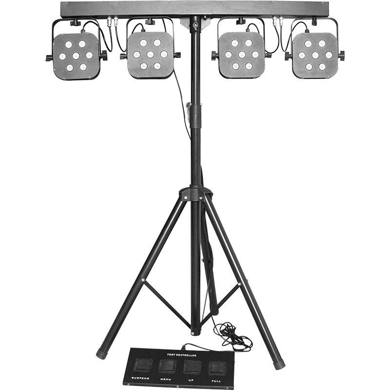 Marslite LED Tricolor 4-Par System Par Light RGB 3IN1 MS-407 LED Par Light Series image16