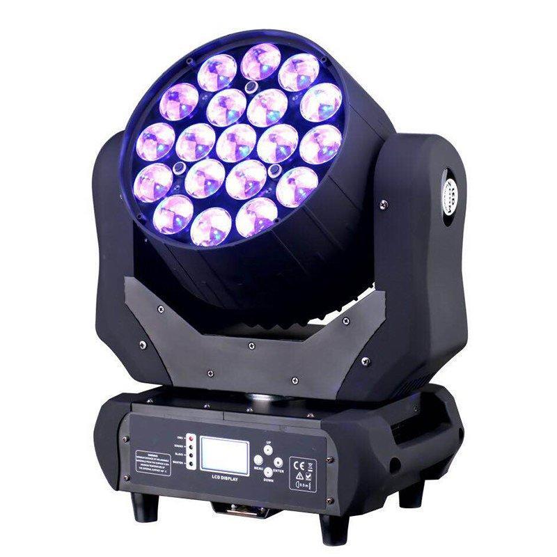 LED Moving Head Light Zoom 19X12W RGBW MS-1912
