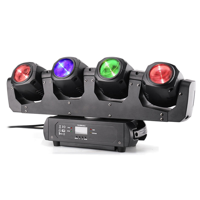 Four Heads Infinity Rotation LED Moving Head Light MS-MF4-32FC