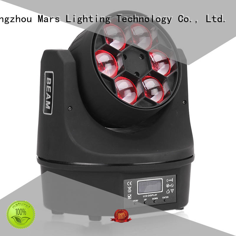 6pcs 4x18w beam rgbwauv moving head dj lights Marslite Brand