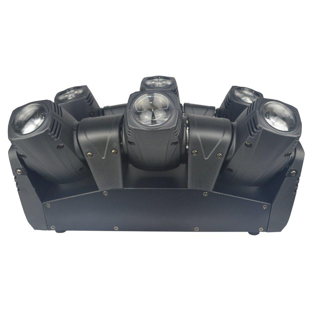 LED Spider Beam Moving Head Light 6pcs 10W RGBW 4in1 MS-MT16FC
