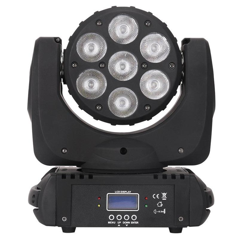 LED Moving Head Light 7pcs 12W RGBW 4in1 LED MS-CM07