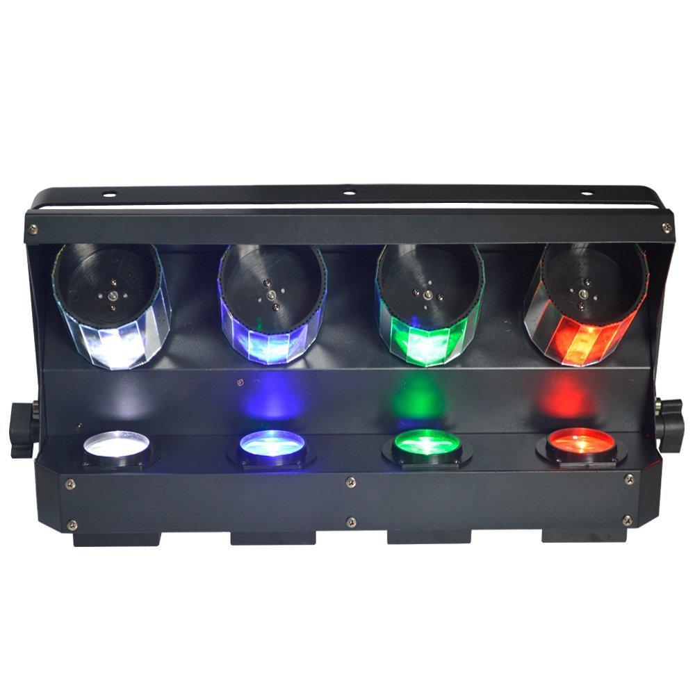 LED Quad Roller Scanner Light  4pcs RGBW 4in1 10W LED MS-ZP40 RGBW