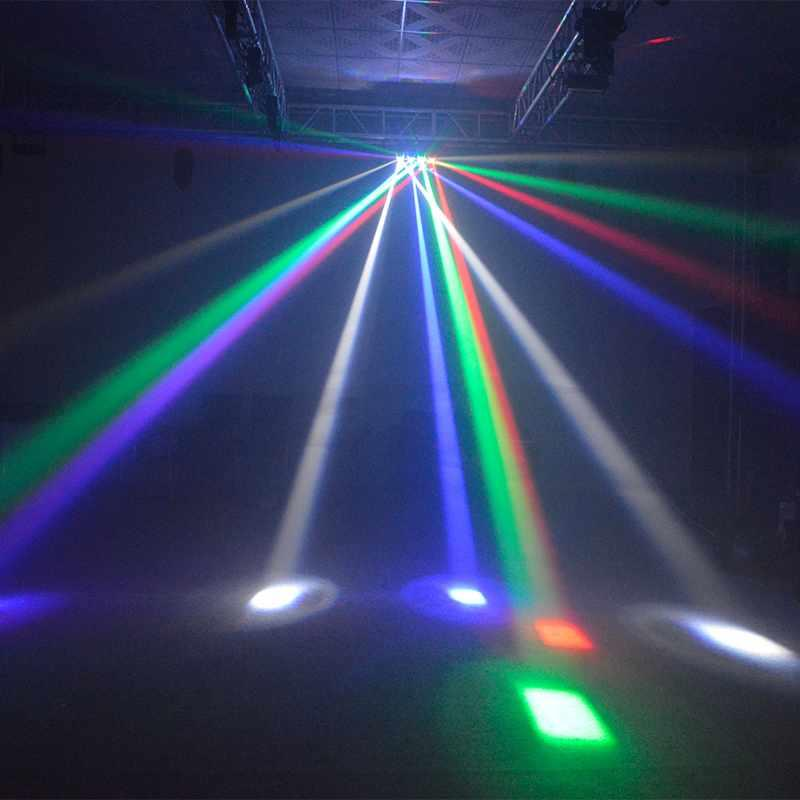 LED Roller Scanner Stage Light 4pcs 10W RGBW Single Color  MS-ZP40 S