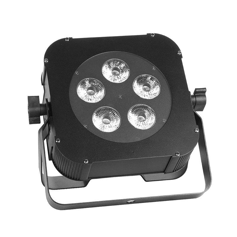 LED Flat Par Stage Light 5x18W RGBWAUV 6IN1 par light MS-CP56