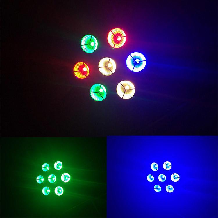 7 Heads snow petals led strobe stage light 7×40W RGBW 4in1 DJ equipment MS-OS7-FC
