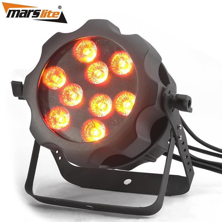 Waterproof 6IN1 LED Par Light IP65 Stage Light Marslite 9x18w RGBW+UV MS-BW169