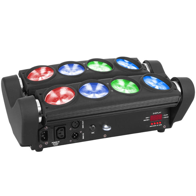 LED Spider Moving Head Light 8PCS 10W RGBW 4IN1 MS-SP8