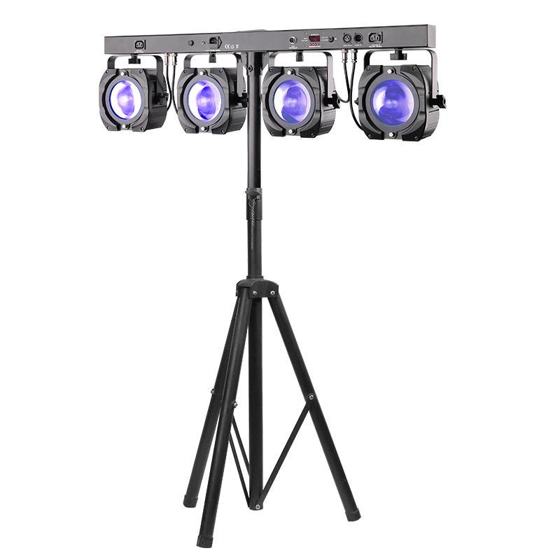 60W COB RGBW Dmx 4 Par Light For Stage DJ Disco Lighting