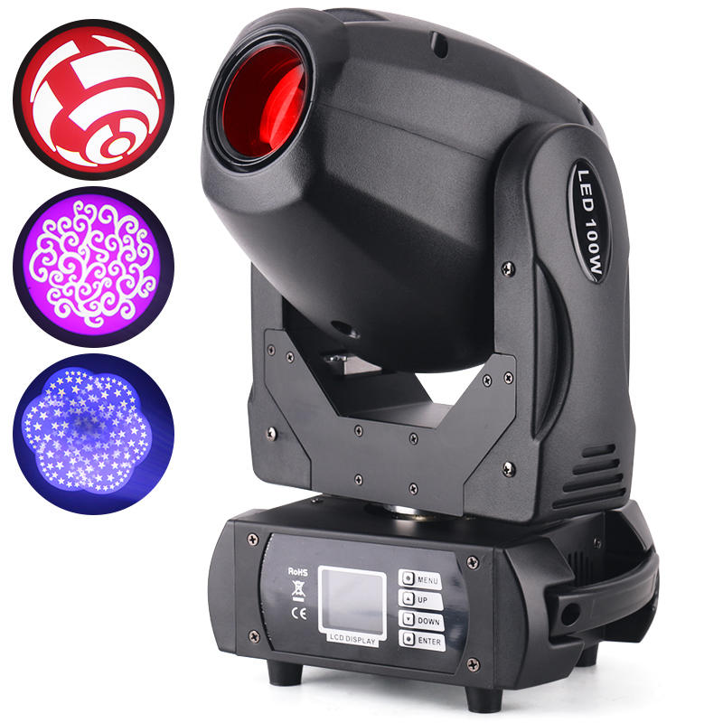 DJ 100W DMX Mini LED Moving Head Spot Light MS-MG100