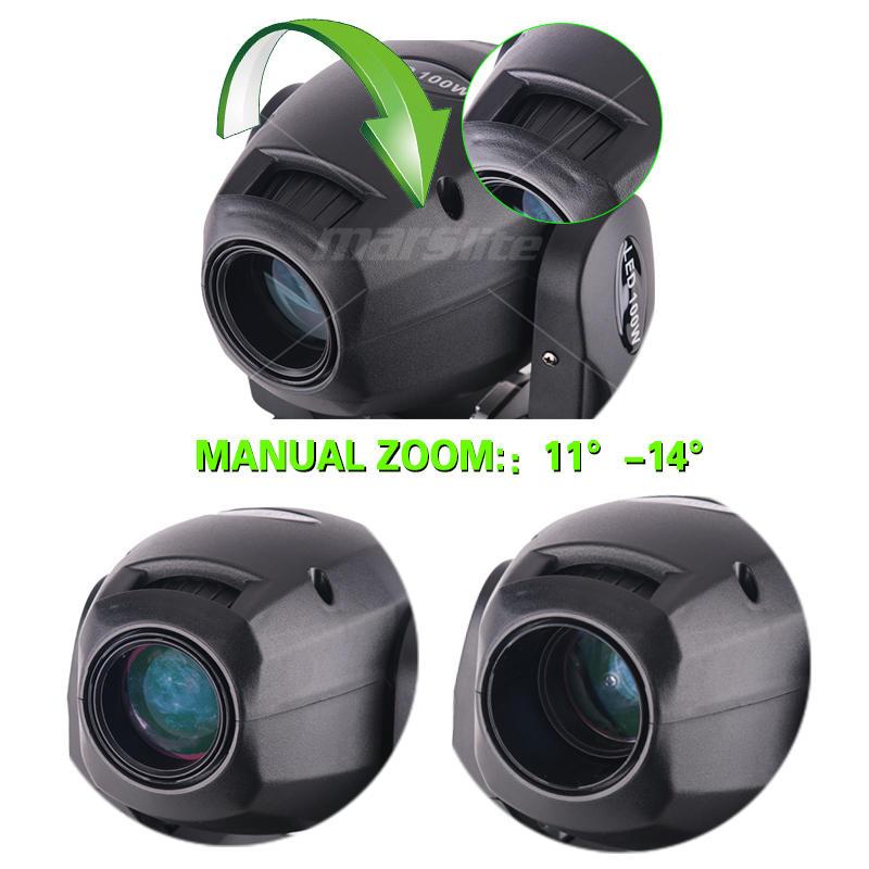 DJ 100W DMX Mini LED Moving Head Spot Light MS-MG100