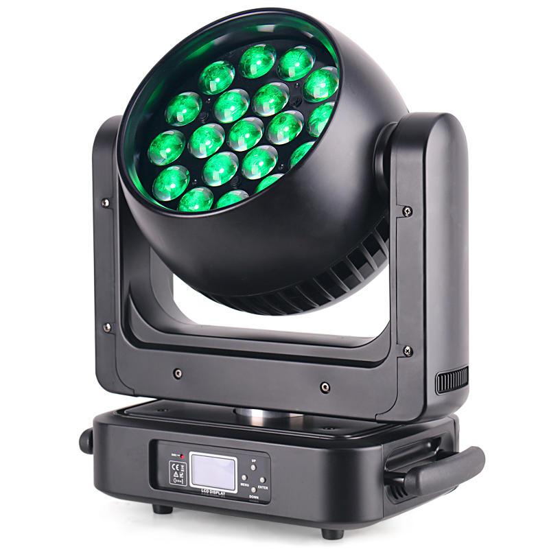 19Pcs 20W/25W RGBW 4IN1 Zoom LED Moving Head Light MS-1925