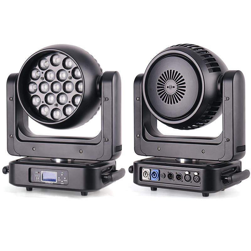 19Pcs 20W/25W RGBW 4IN1 Zoom LED Moving Head Light MS-1925