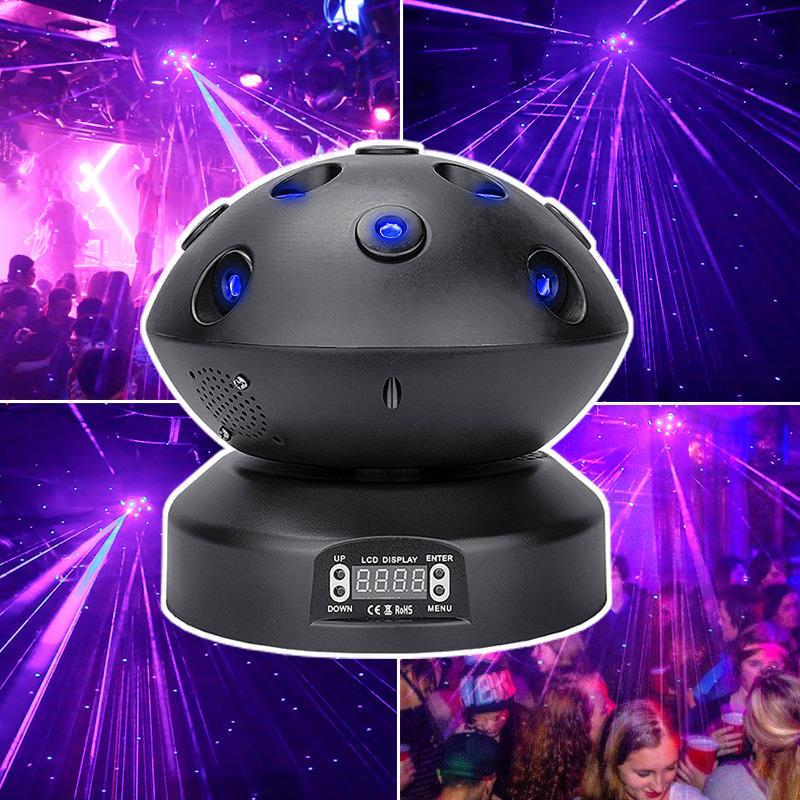 KTV Party Night Club Rotating Blue Red Star Laser Bar Light MS-C010