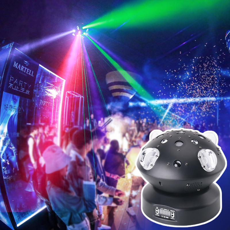 KTV Disco Stage DMX512 80W Beam Gobo Line Laser Effect Rotation Ball Light MS-C009