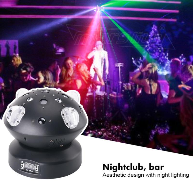 KTV Disco Stage DMX512 80W Beam Gobo Line Laser Effect Rotation Ball Light MS-C009
