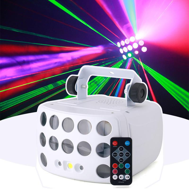 LED Derby Laser Strobe 3IN1 KTV Disco Party Light MS-C006
