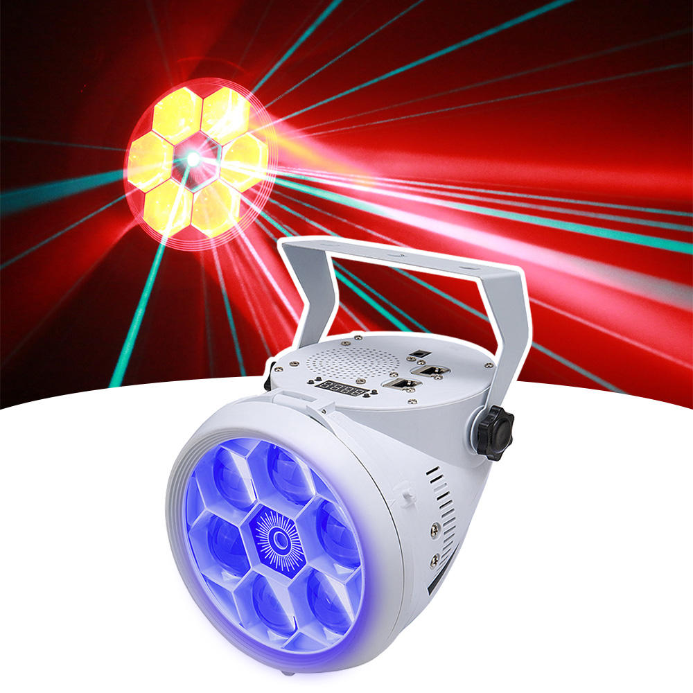 Mini LED DMX512 RGBW Beam Green Laser Bee Eye Party KTV Lights MS-C005