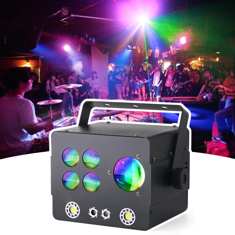 Multi-Effect Equipment Gobo+Derby+Laser+Strobe Combined Effect Party Wedding Stage DJ Lights MS-C014