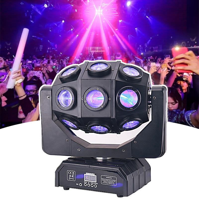 Stage Light Disco Ball 18PCS 10W RGBW Sharpy Beam LED Moving Head Party Light MS-FB1810