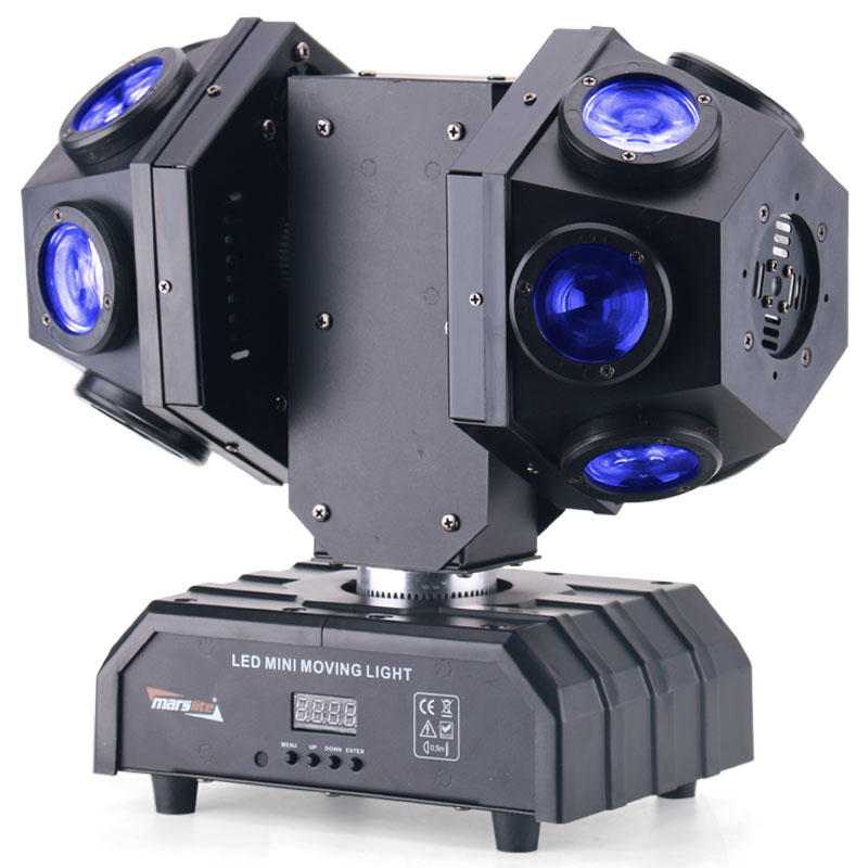 Rotation 12*10W RGBW LED And Red Green Laser Double Arm Moving Head DJ Stage Light MS-DB1210