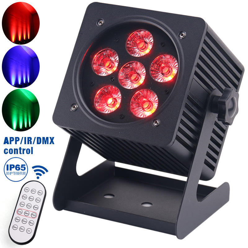 Hight Brightness IP65 6X18W RGBWA+UV LED Battery Powered Wireless Outdoor DMX Wifi Par Light MS-BW618