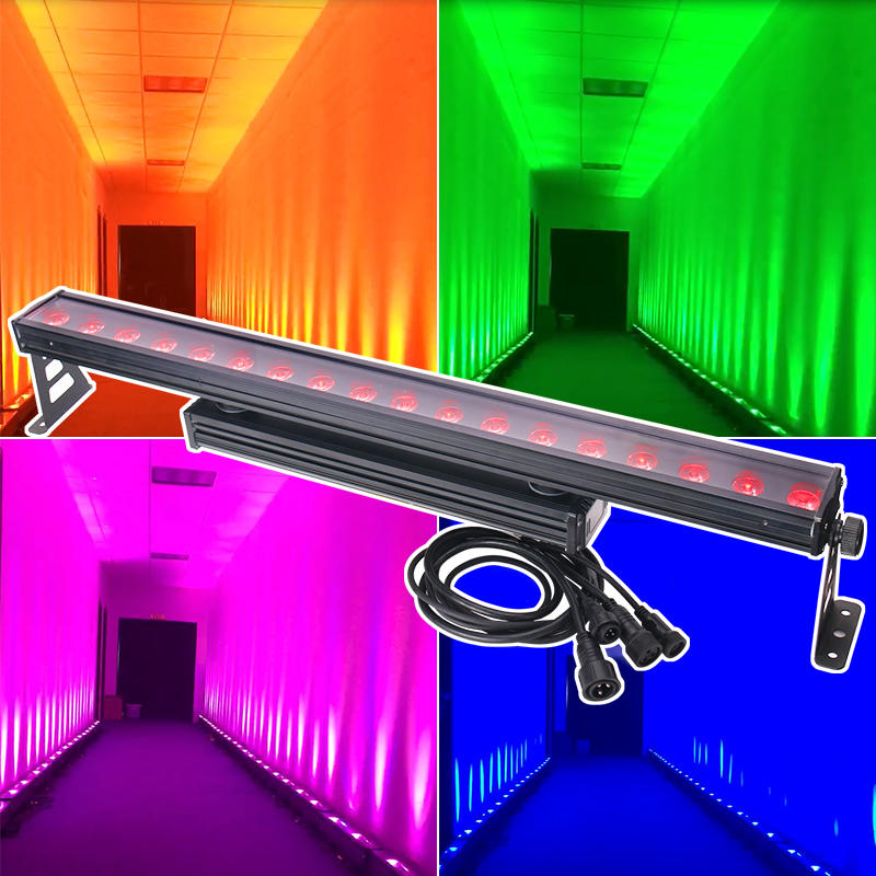 LED Wall Washer Bar Light 18pcs 12W RGBW 4IN1  MS-1812