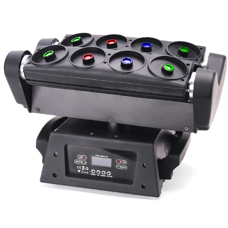 DJ Wedding Equipment 8 Eyes R/G/B Moving Head Beam Spider Laser Light MS-MH8SL