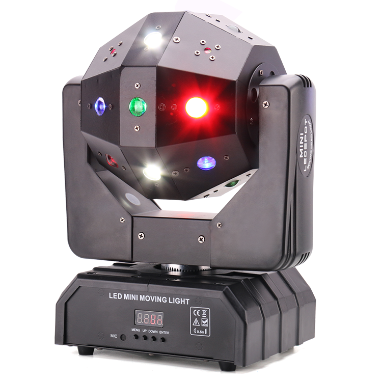 Rotating 3IN1 Laser+Strobe+ LED Beam Moving head Magic Disco Ball Party Light MS-LB16