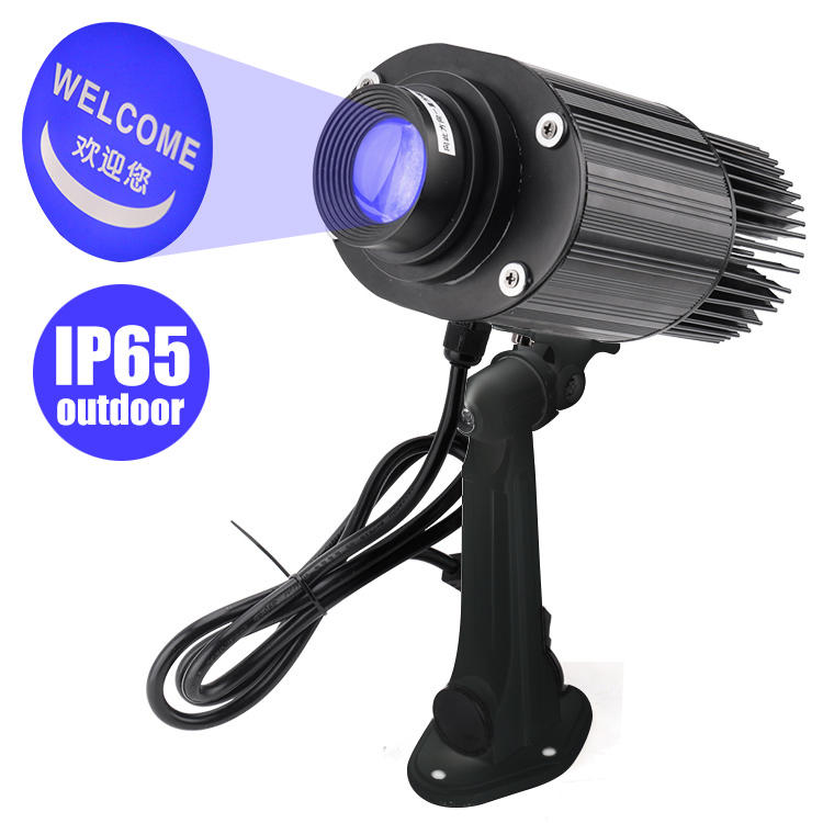 Waterproof Customized Gobo Projector 50W Outdoor LED Advertising Rotating Logo Projector Light MS-LGP50