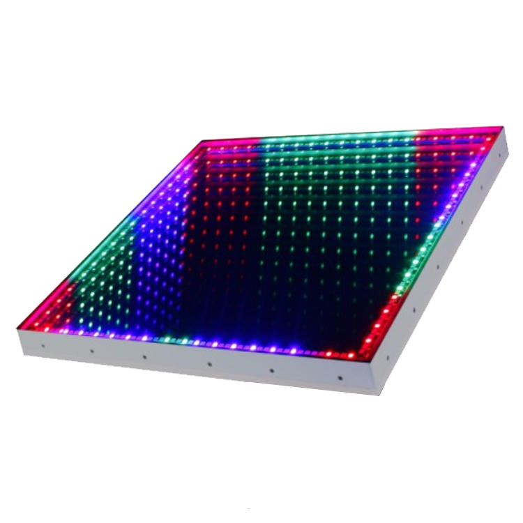 RGB Tri-color 3D Infinity Mirror Effect LED Dance Floor For Wedding Party MS-216