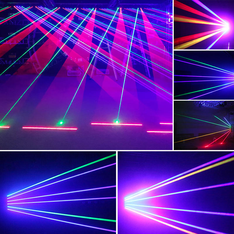 Marslite 6 Lens RGB Moving Beam Bar Laser Light MS-Y8-6000W