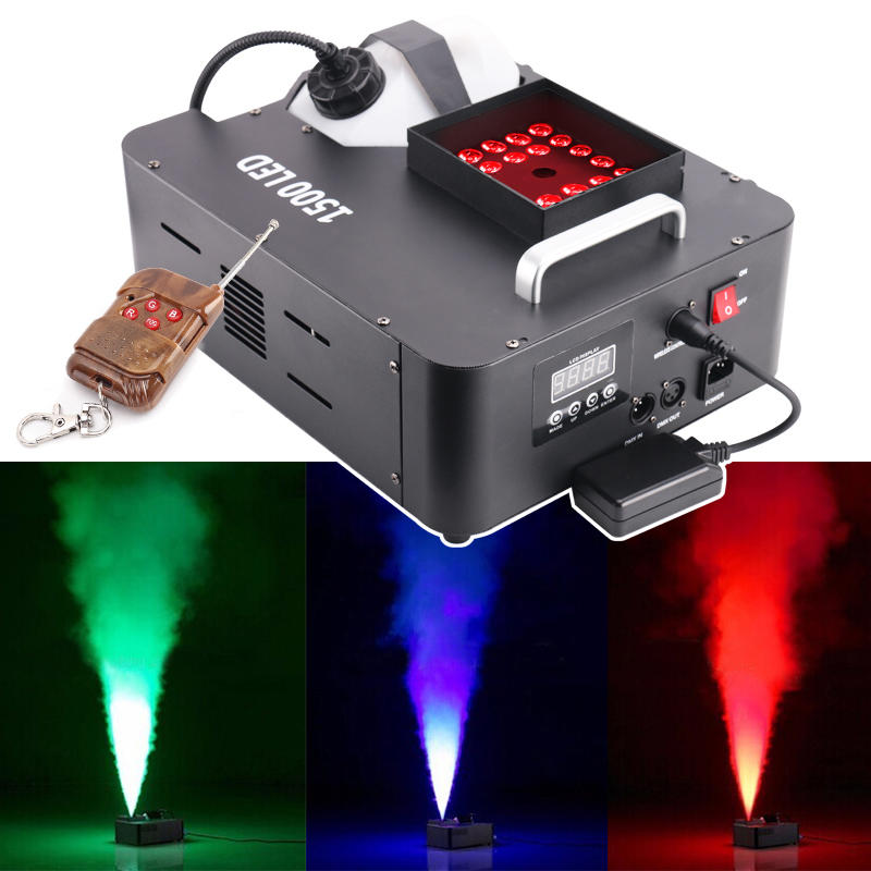 Marslite 1500W LED Stage Party Wedding Smoke Fog Machine MS-F01
