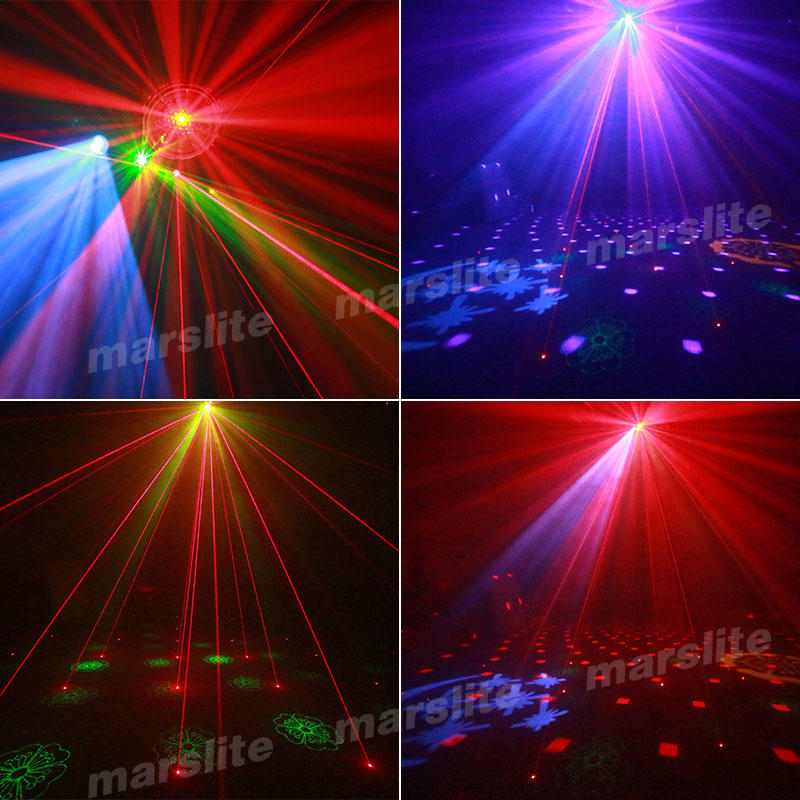 Stage Disco Light Ball Gobo Strobe Laser 4In1 Effect Mini Rotating Led Party Magic Ball Light MS-XS010