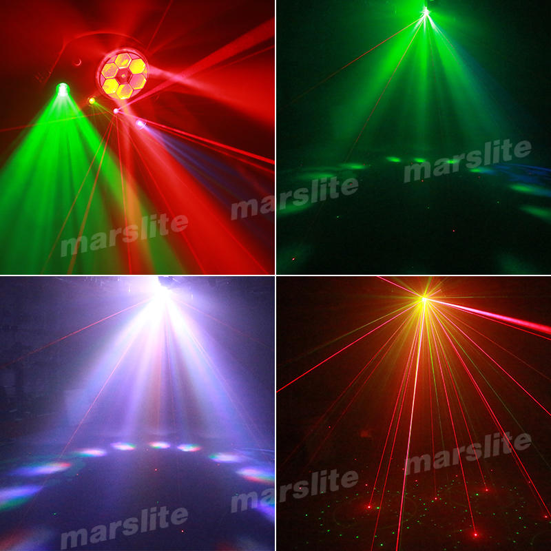 Portable Colorful Bee Eye Gobo Strobe Effect Light Home Party KTV DJ Bar Laser Projector Lights MS-XS014