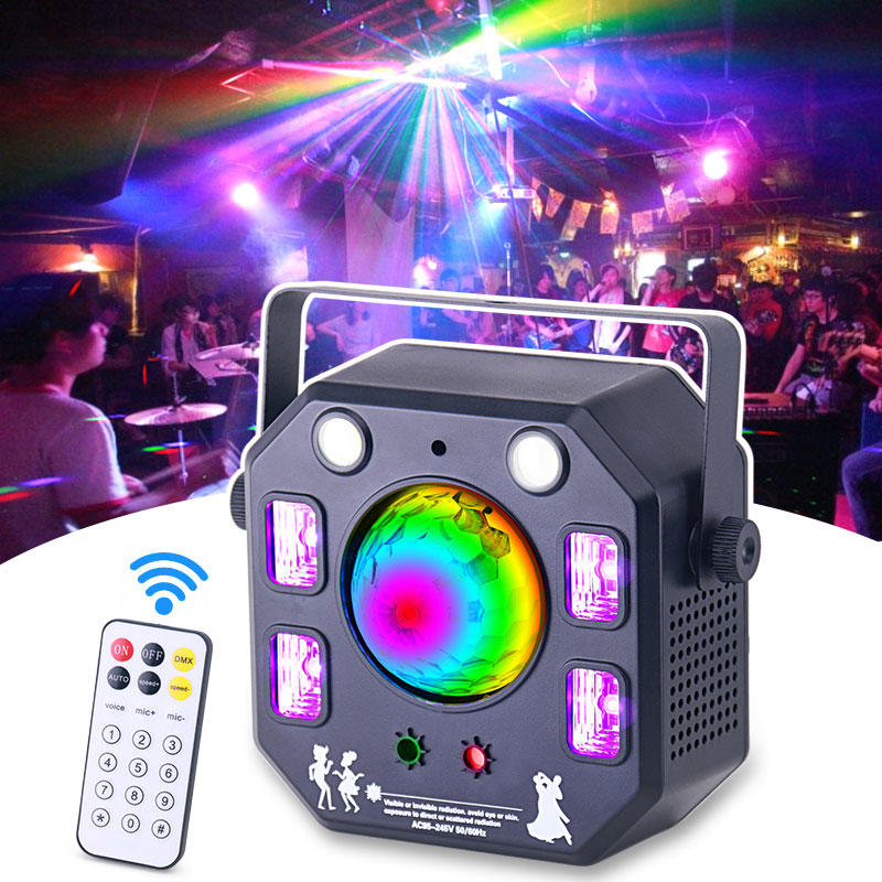 New Design DJ LED Rotating Magic Ball Effect Colorful Disco Laser Light For Party Stage MS-X016