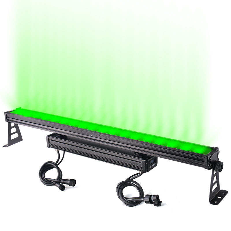 Outdoor City Color Pixel Bar Light DMX512 IP65 18X10W LED Wall Washer Linear Light MS-1810