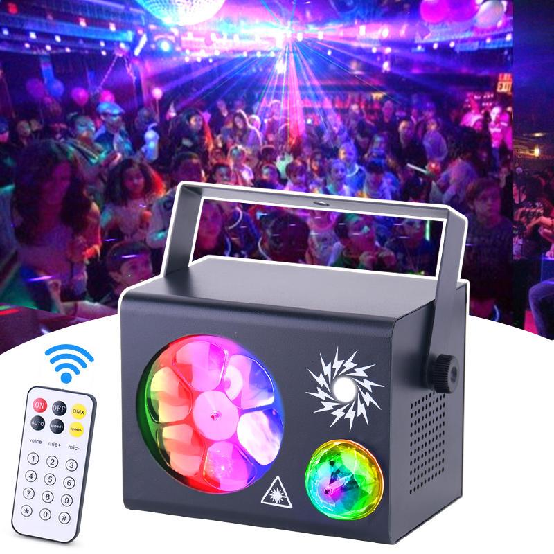 Remote Control Magic Ball Strobe Mini KTV Dj Disco Stage Laser Show Light MS-XS018