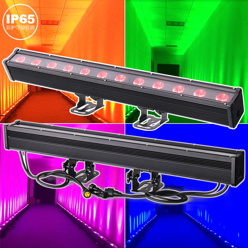 High Power Outdoor Linear Light IP65 12X20W RGBW City Color Wall Washer LED Bar Light MS-1220