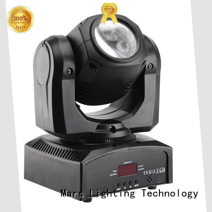 mini moving spotlight with the music, multi-color beam efects for club Marslite
